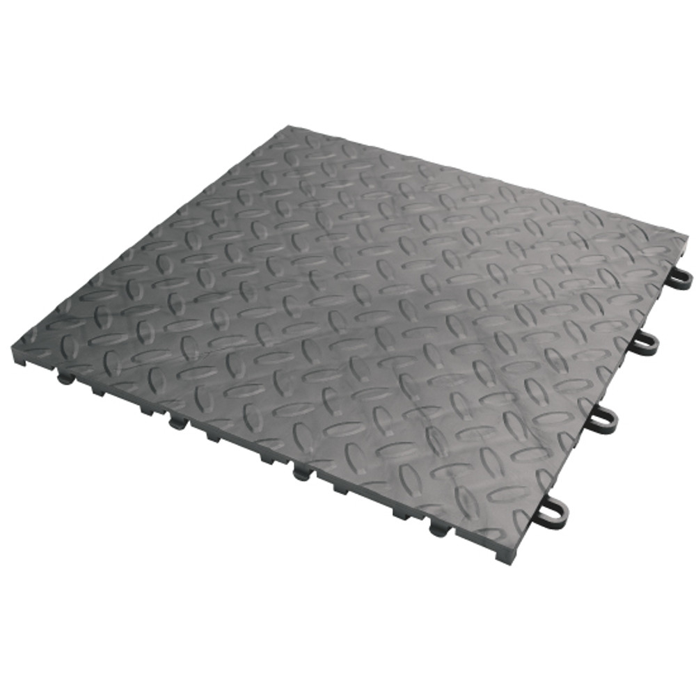 Gladiator Charcoal Floor Tile (48-Pack)