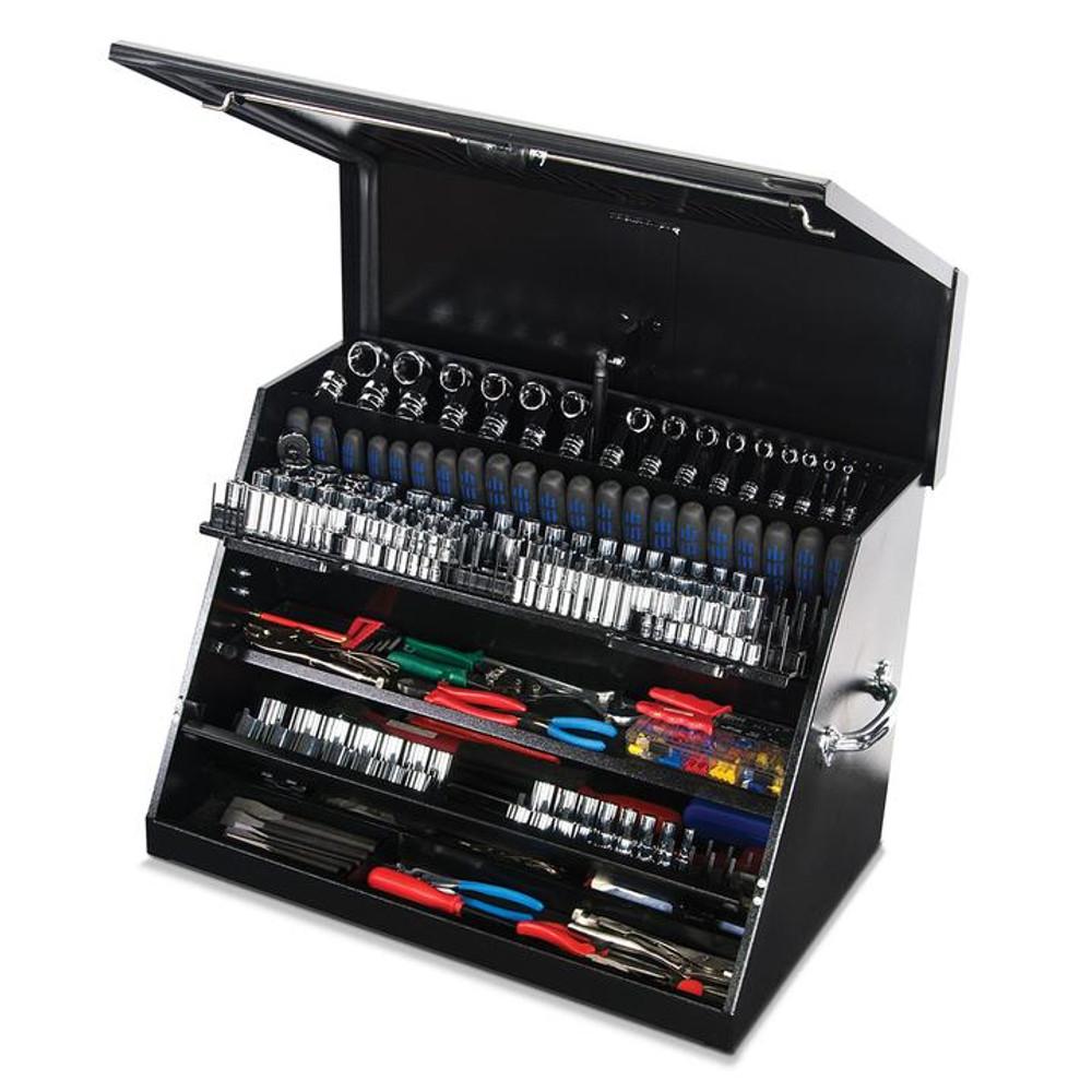 """Montezuma 30"""" x 19"""" Portable Steel Toolbox - Black"""