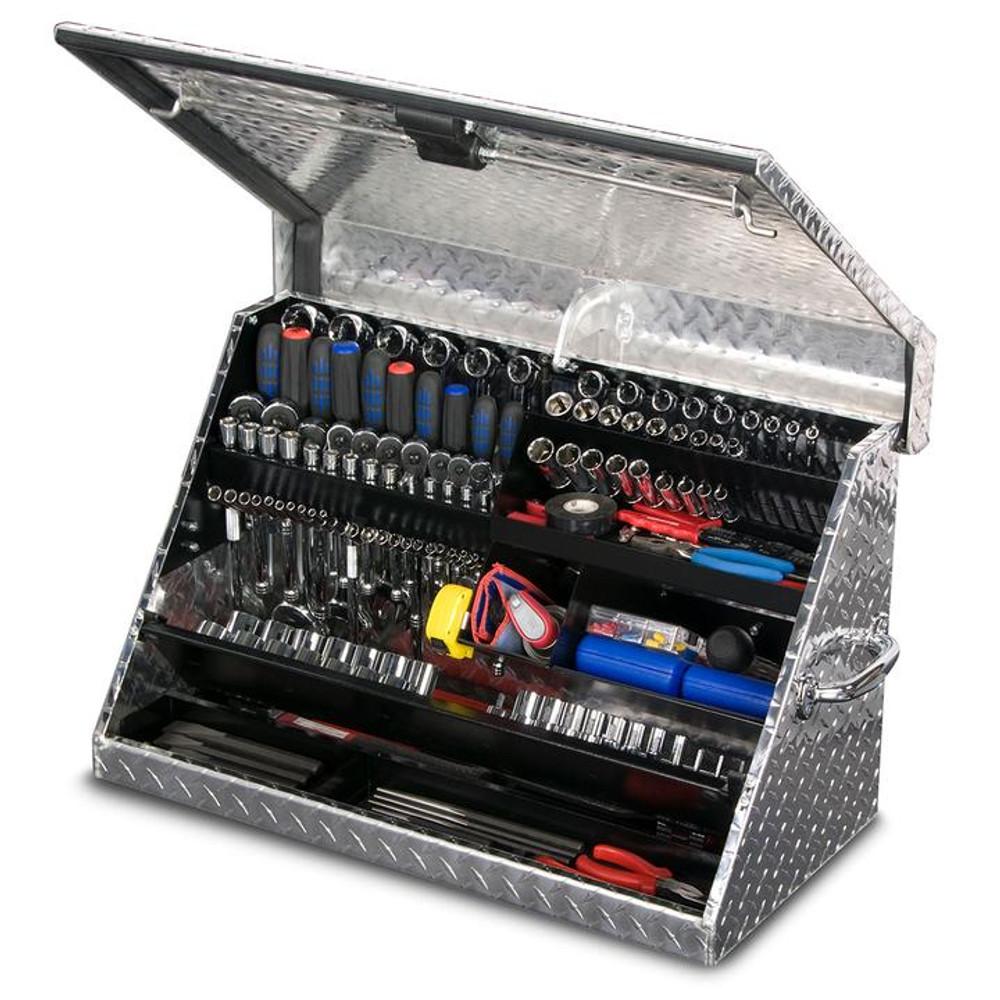 """Montezuma 30"""" x 15"""" Portable Aluminum Toolbox"""