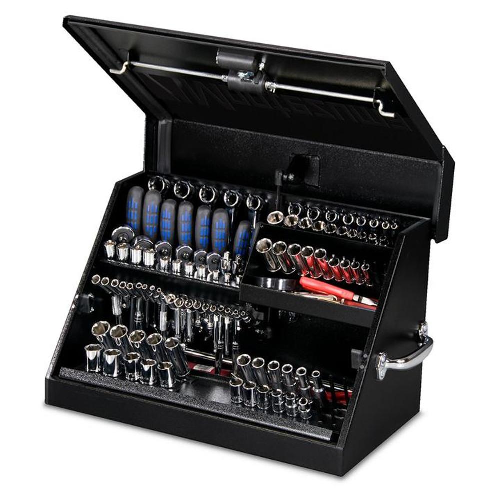 """Montezuma 23"""" x 14"""" Portable Steel Toolbox - Black"""