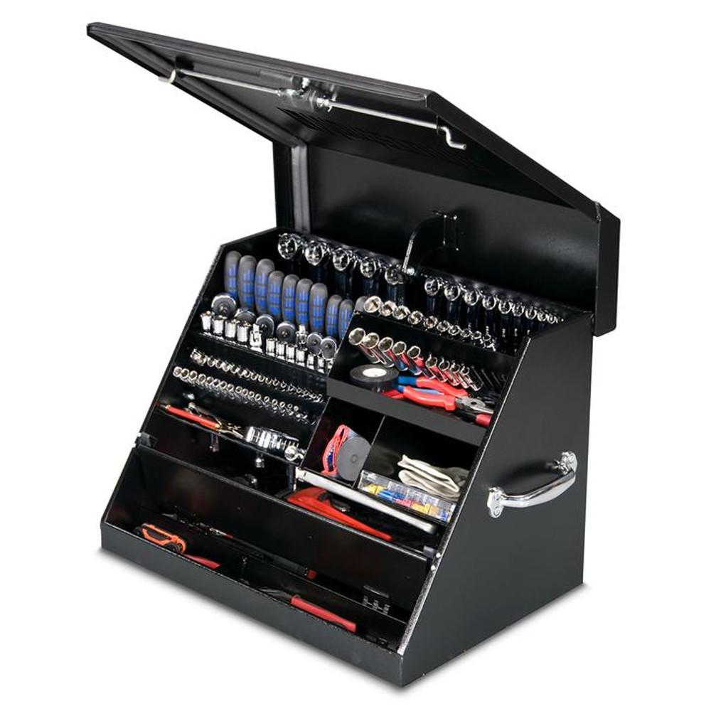 """Montezuma 26"""" x 18"""" Portable Steel Toolbox - Black"""