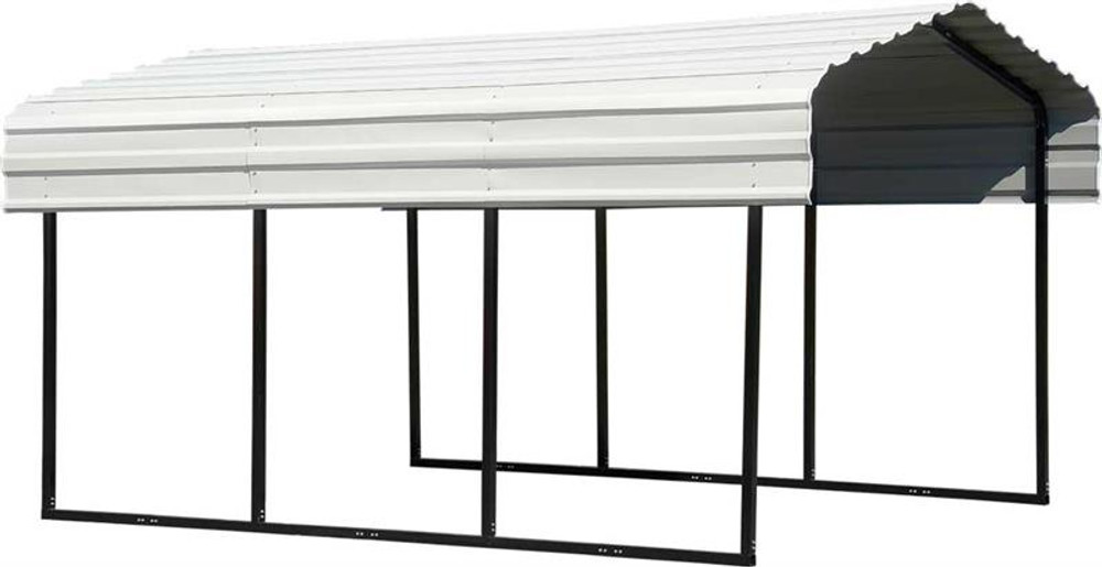 Arrow Steel Carport 10 x 15 x 7 ft. Galvanized Eggshell