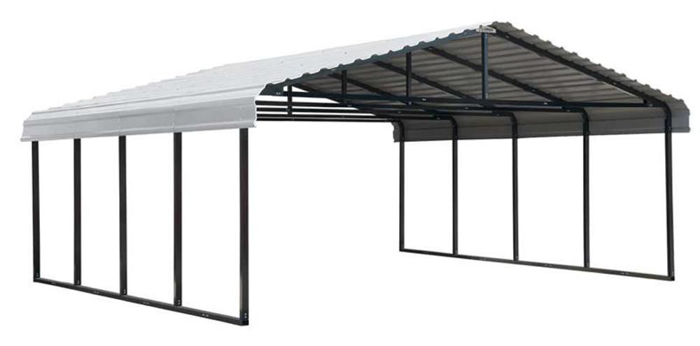 Arrow Carport 20 x 24 x 7 ft - Eggshell