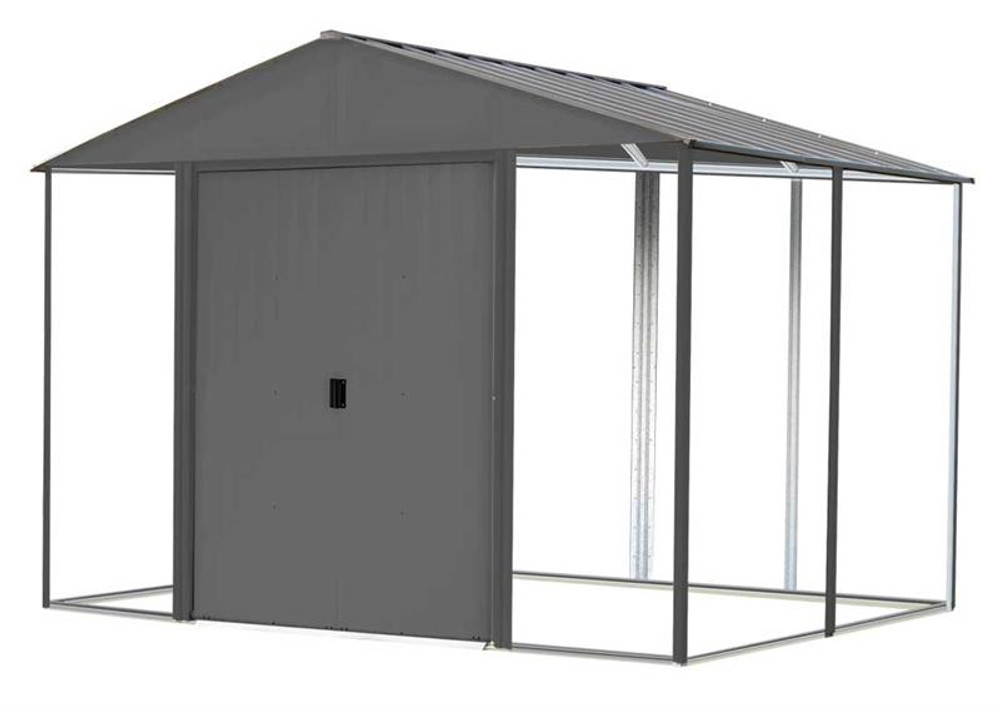 Arrow Ironwood Steel Hybrid Shed Kit 8 x 8 ft. Galvanized Anthracite