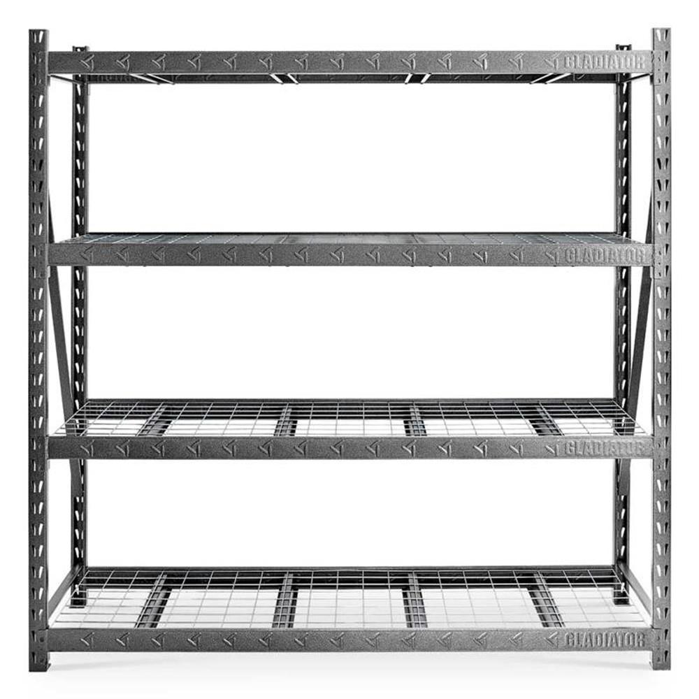 "Gladiator 90"" x 90"" Heavy Duty Mega Rack with Four Adjustable Shelves"