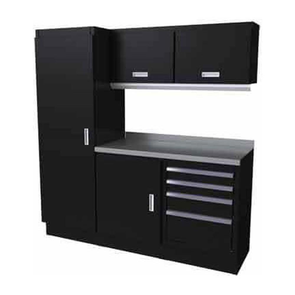 Moduline Select Series 6 Piece Garage Cabinet Set - Black
