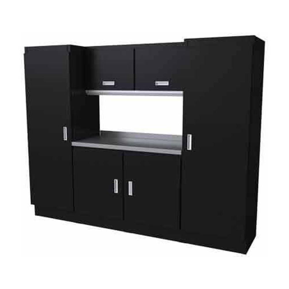 Moduline Select Series 7-Piece Garage Cabinet Set - Black