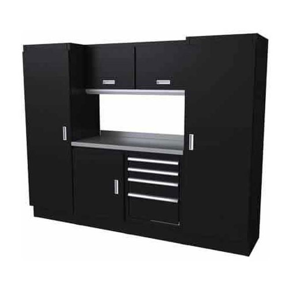 Moduline Select Series 7 Piece Garage Cabinet Set - Black
