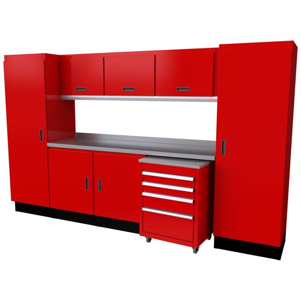 Moduline Select Series 10-Piece Garage Cabinet Set - Red