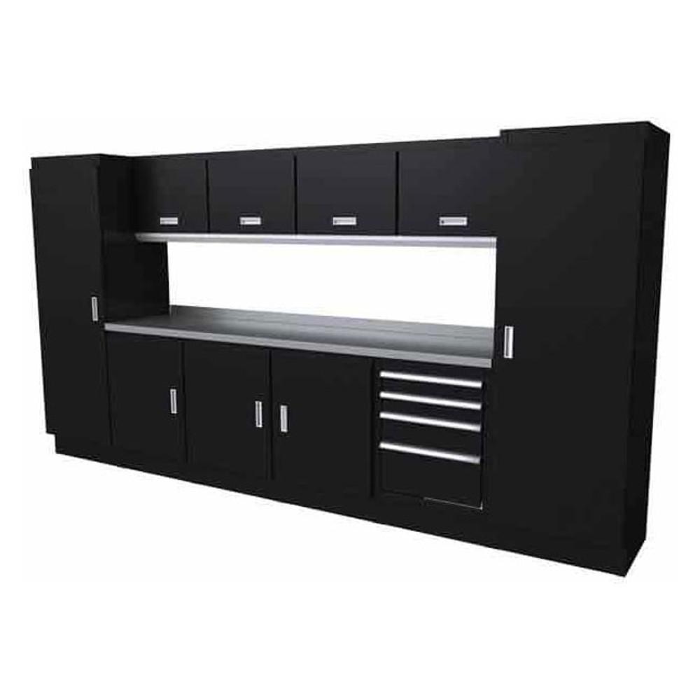 Moduline Select Series 11 Piece Garage Cabinet Set - Black