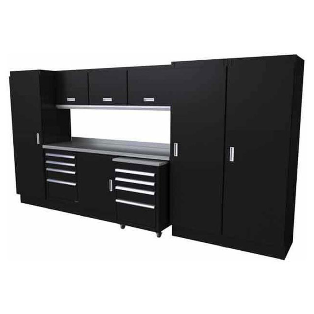 Moduline Select Series 11-Piece Garage Cabinet System - Black