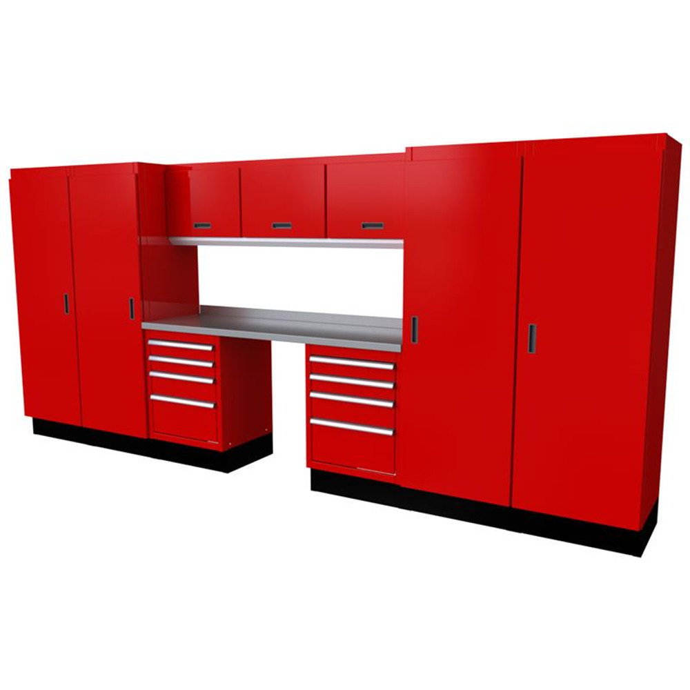 Moduline Select Series 11 Piece Garage Cabinet System - Red