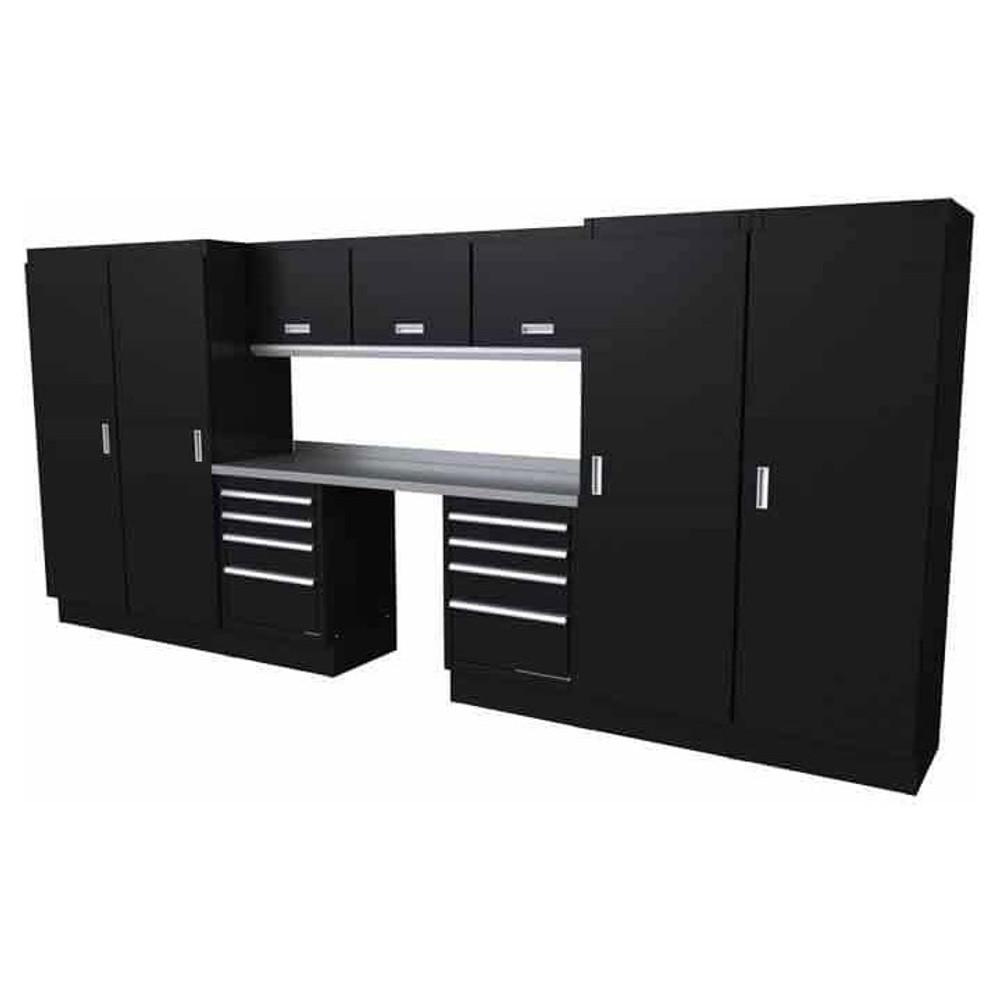 Moduline Select Series 11 Piece Garage Cabinet System - Black