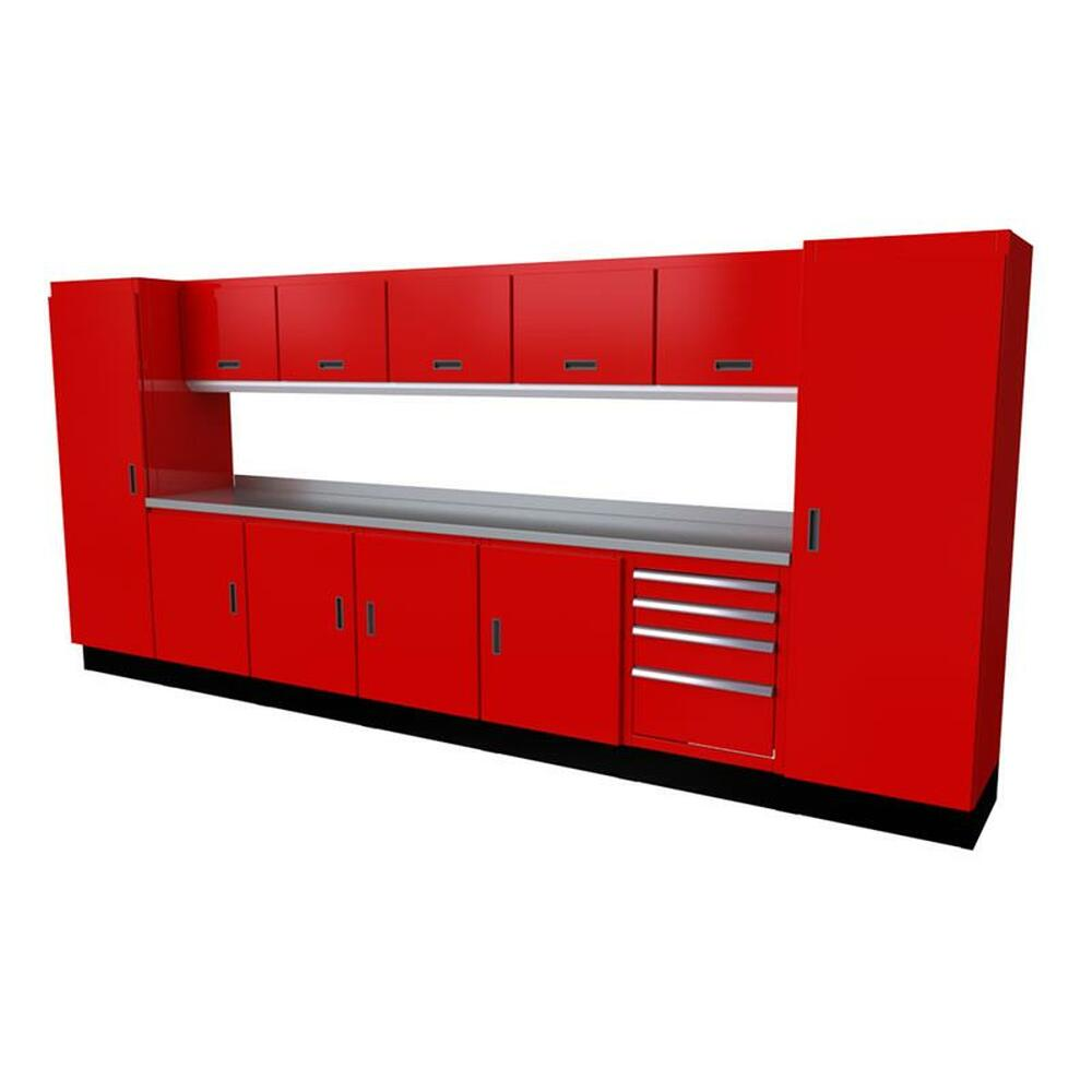 Moduline Select Series 13-Piece Garage Cabinet Set - Red