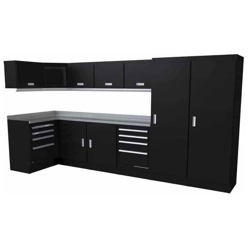 Moduline Select Series 14 Piece Garage Cabinet Set - Black