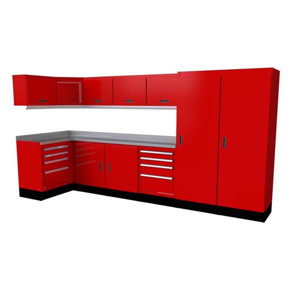 Moduline Select Series 14 Piece Garage Cabinet Set - Red
