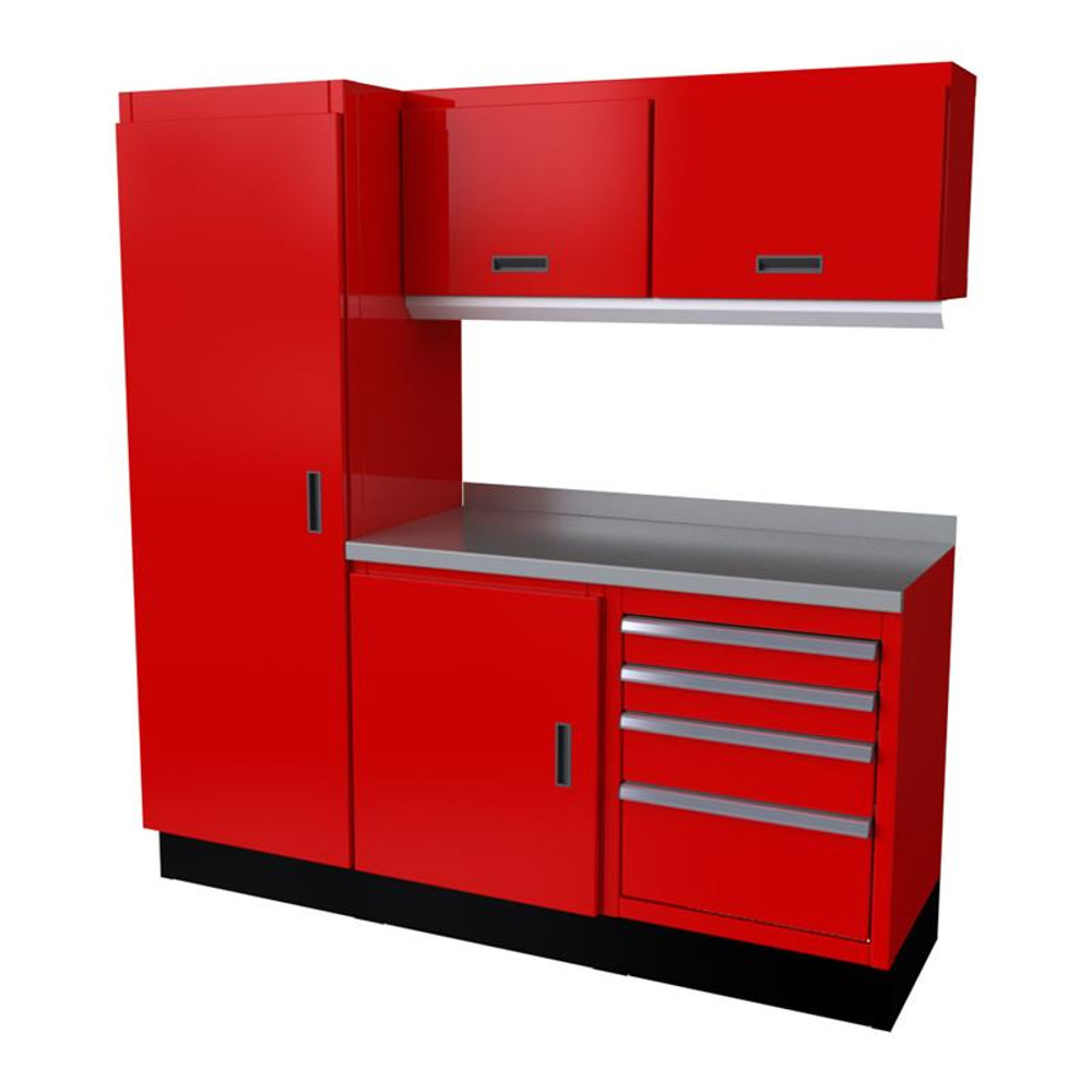 Moduline Select Series 6 Piece Garage Cabinet Set - Red