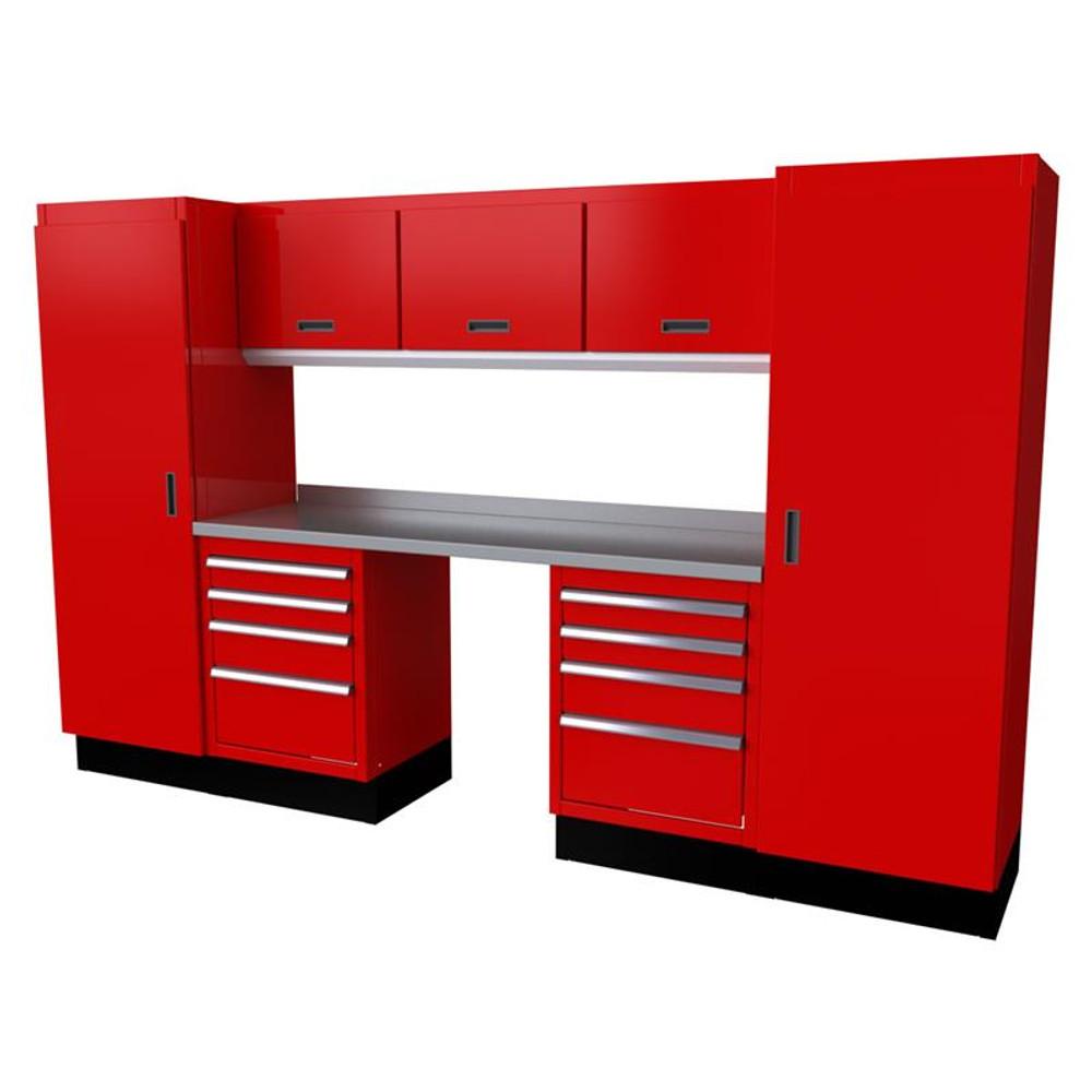Moduline Select Series 9-Piece Garage Cabinet System - Red