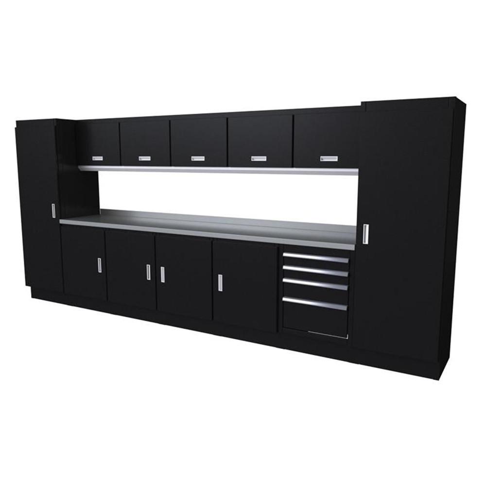 Moduline Select Series 13-Piece Garage Cabinet Set - Black