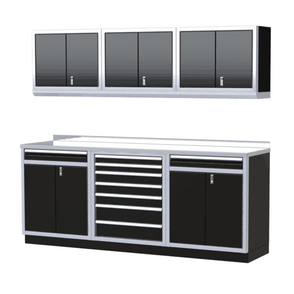 Moduline PRO II Series 7-Piece Garage Cabinet Set PGC008-12