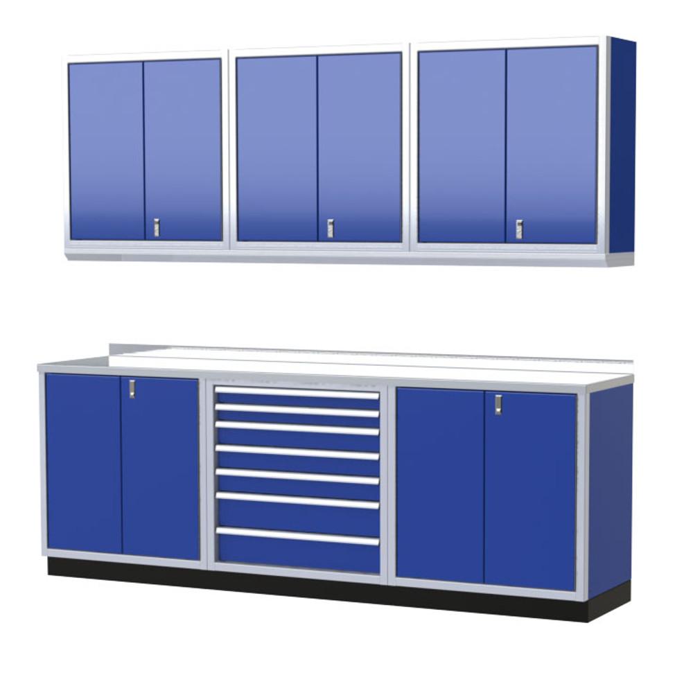 Moduline Pro Ii Series 7 Piece Garage Cabinet Set Pgc009 02x