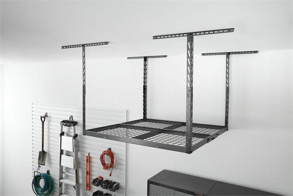 Gladiator Overhead GearLoft Storage Rack 4' X 4' - Hammered Granite