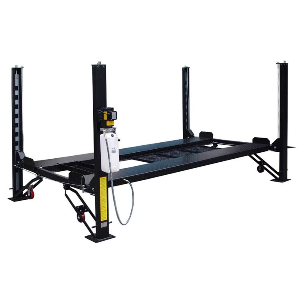 Tuxedo FP8K-DX-XLT 8,000 lb Deluxe Storage Lift Extended Length / Height with Poly Casters, Drip Trays, Jack Tray