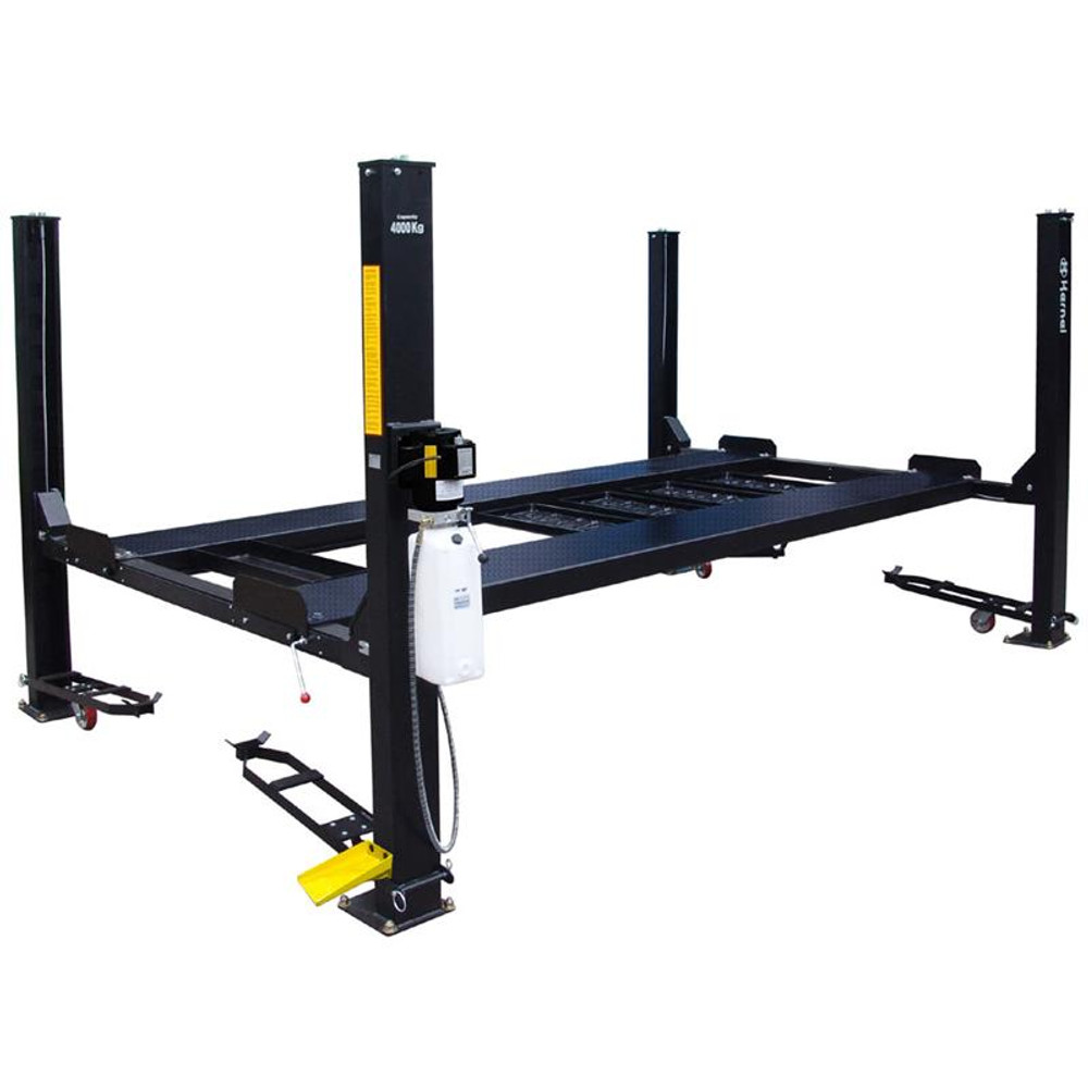 Tuxedo FP9K-DX-XLT 9,000 lb Deluxe Storage Lift Extended Length / Height with Poly Casters, Drip Trays, Jack Tray