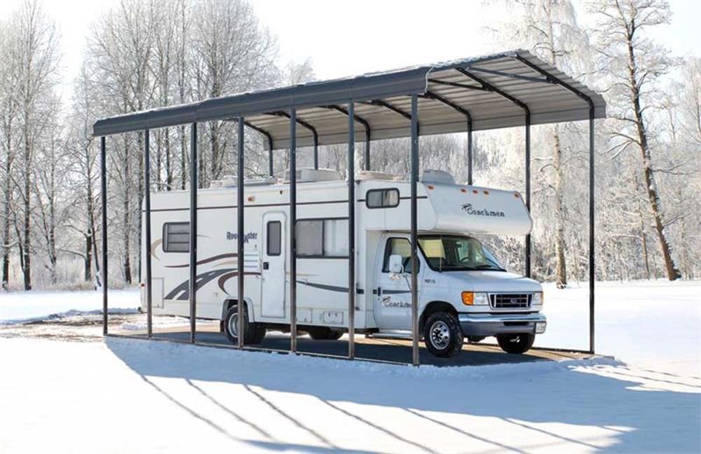 Arrow RV Carport, 14 x 33 x 14 - Charcoal