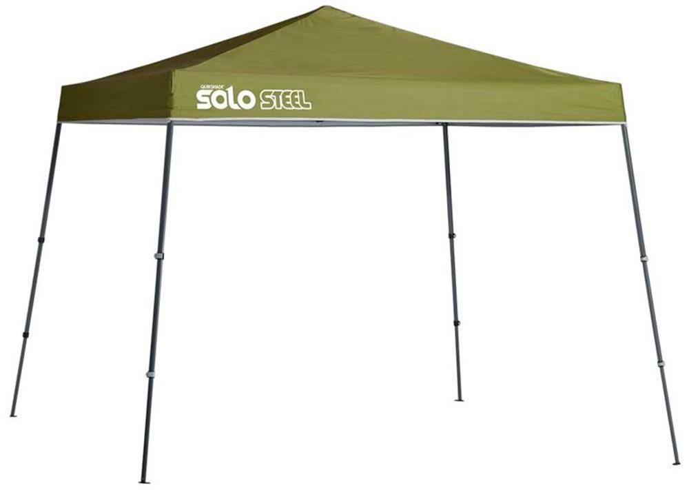 Quick Shade Solo Steel 72 11 x 11 ft. Slant Leg Canopy - Olive
