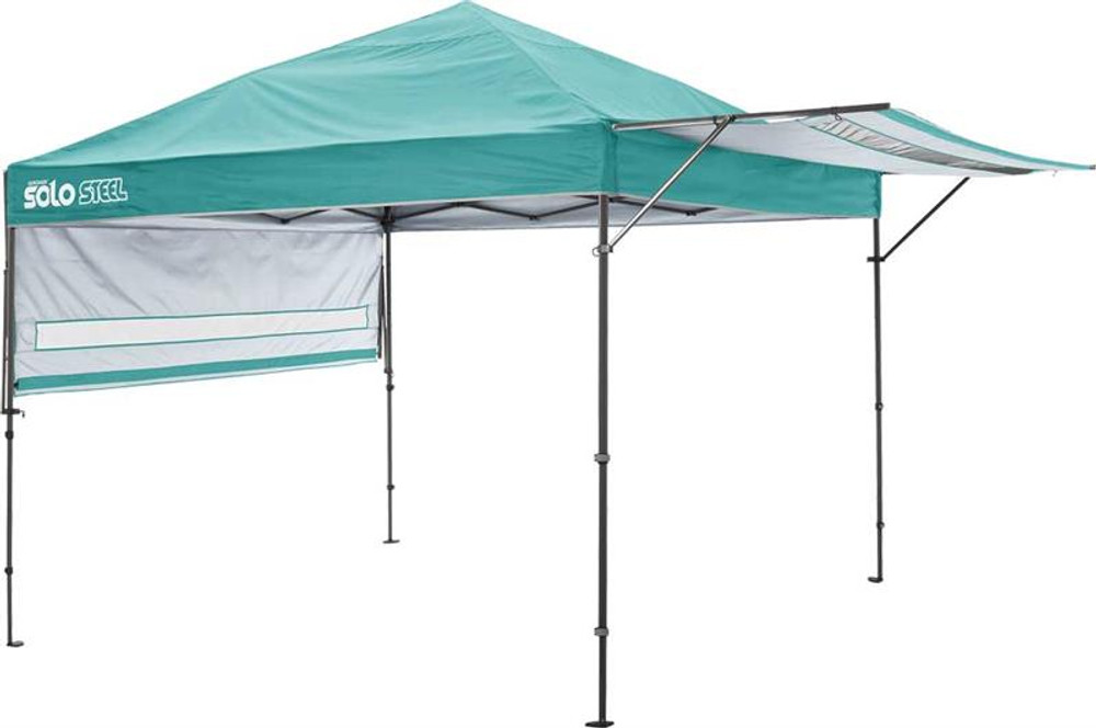 Quick Shade Solo Steel 170 10 x 17 ft. Straight Leg Canopy - Turquoise