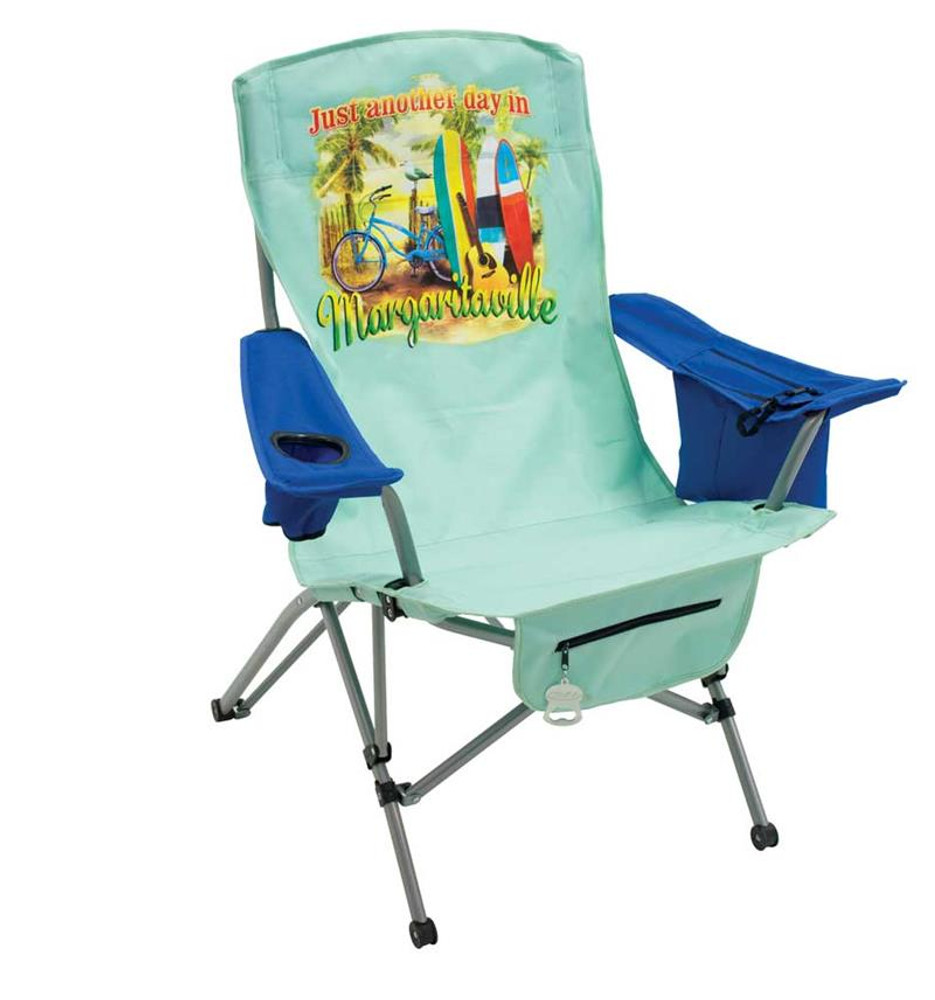 Margaritaville Tension Quad Chair - Just Another Day In Paradise - Green/Blue