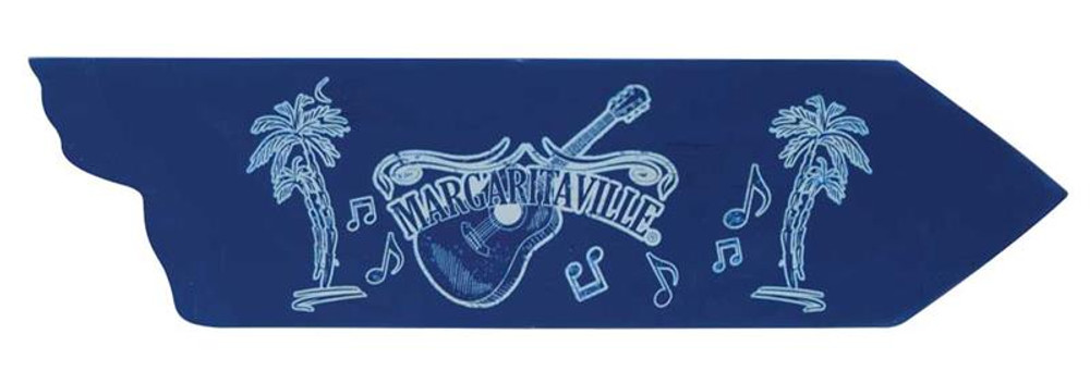 Margaritaville Directional Garden Sign - Guitar
