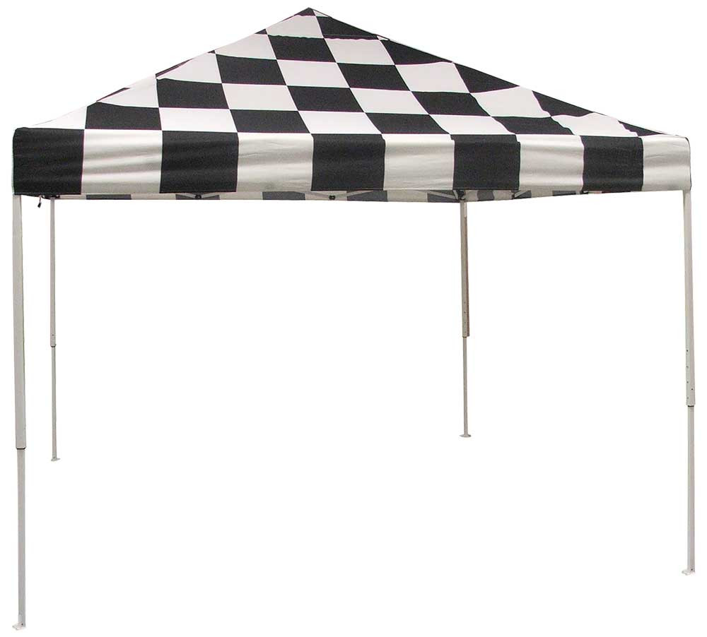 ShelterLogic Pop-Up Canopy HD - Straight Leg 10 x 10 ft. Checkered Flag