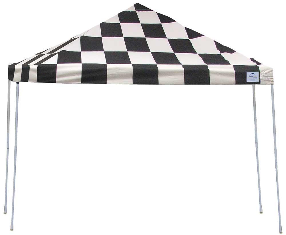 ShelterLogic Pop-Up Canopy HD - Straight Leg 12 x 12 ft. Checkered Flag