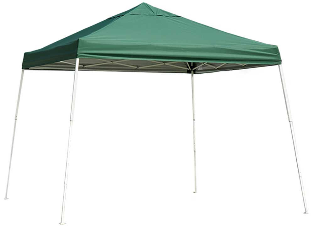 ShelterLogic Pop-Up Canopy HD - Slant Leg 12 x 12 ft. Green