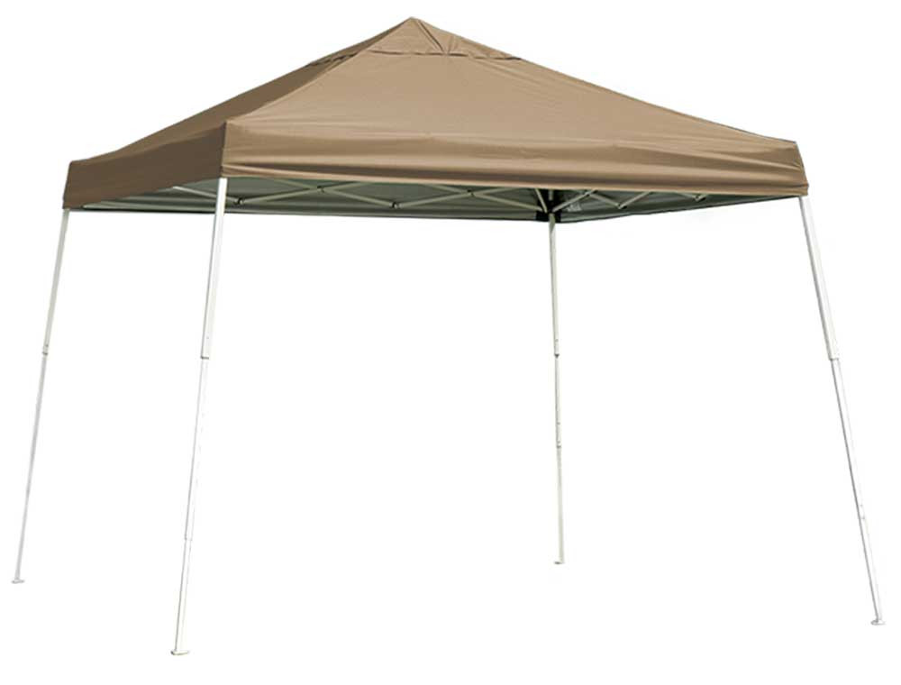 ShelterLogic Pop-Up Canopy HD - Slant Leg 10 x 10 ft. Desert Bronze