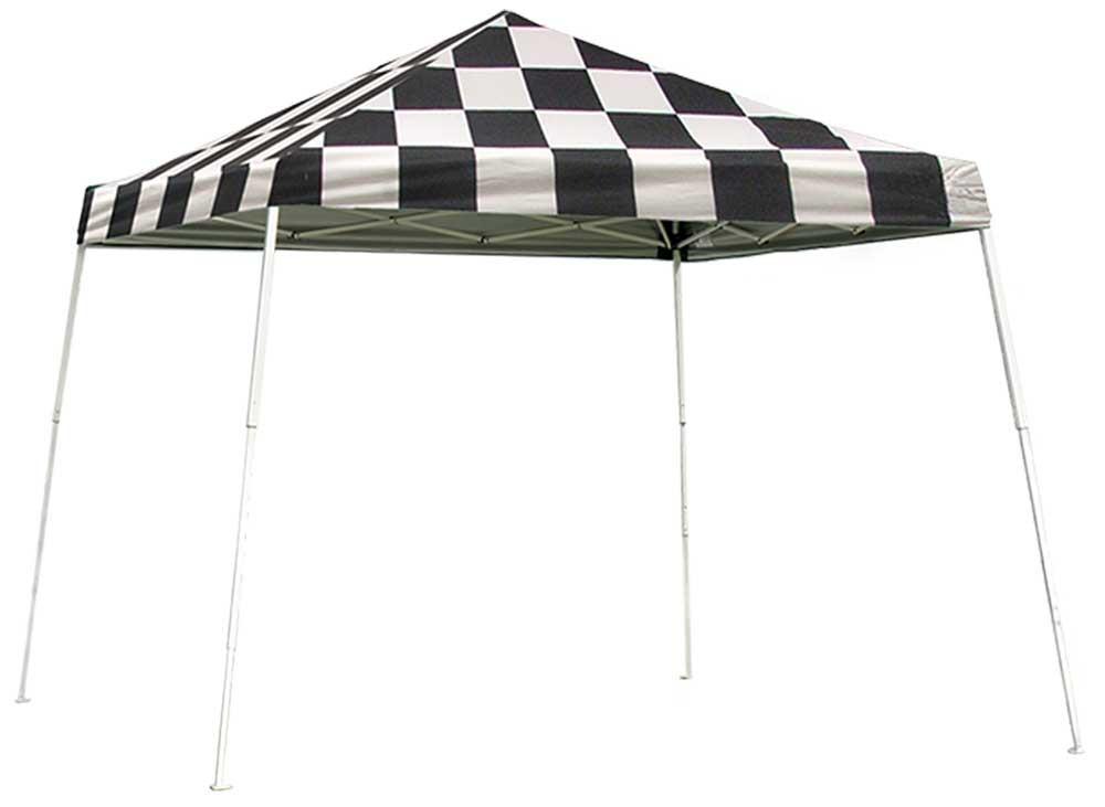 ShelterLogic Pop-Up Canopy HD - Slant Leg 10 x 10 ft. Checkered Flag