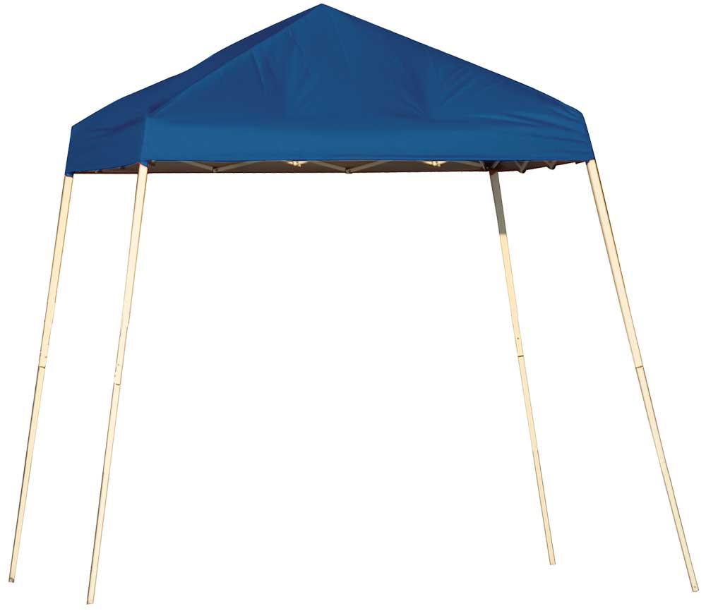 ShelterLogic Pop-Up Canopy HD - Slant Leg 8 x 8 ft. Blue