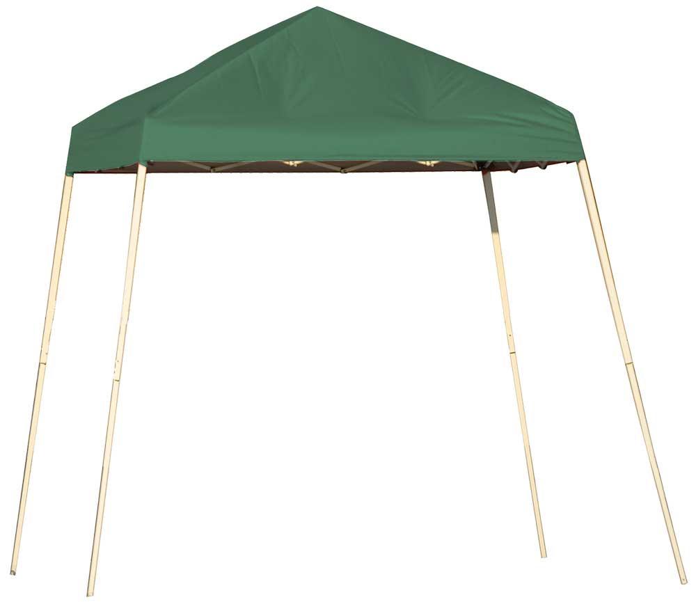 ShelterLogic Pop-Up Canopy HD - Slant Leg 8 x 8 ft. Green