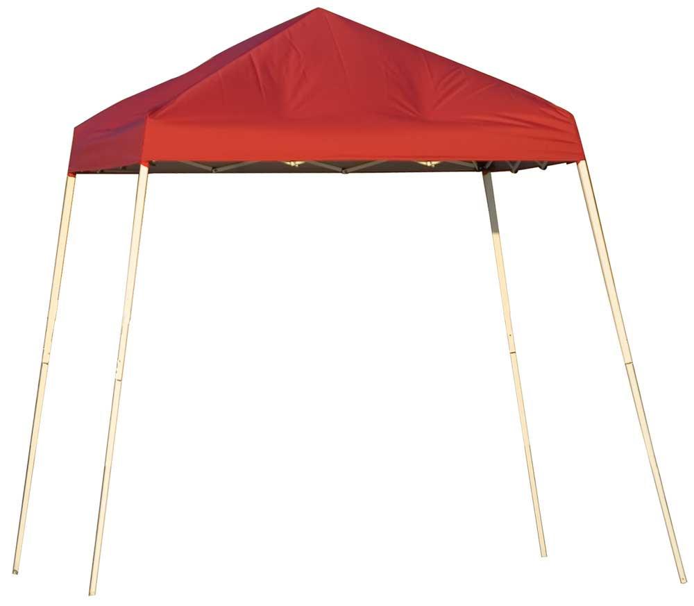 ShelterLogic Pop-Up Canopy HD - Slant Leg 8 x 8 ft. Red