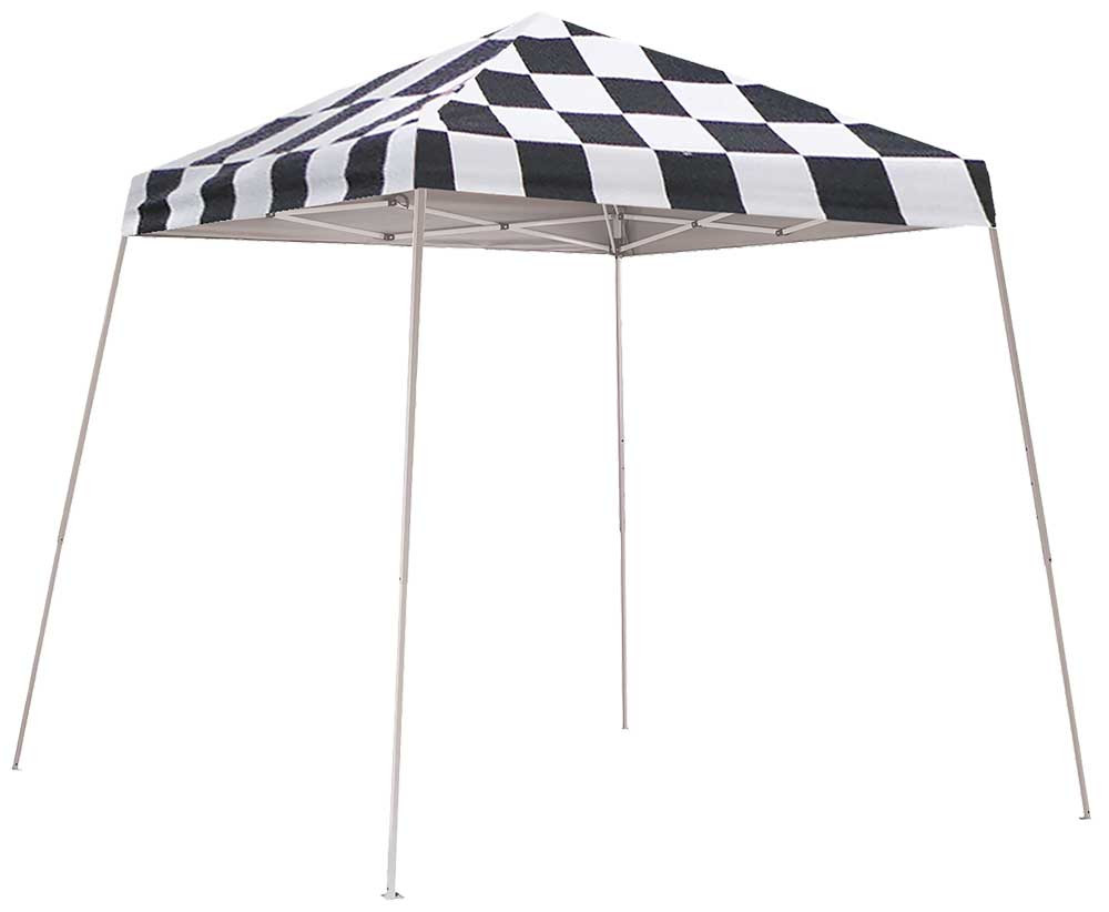 ShelterLogic Pop-Up Canopy HD - Slant Leg 8 x 8 ft. Checkered Flag