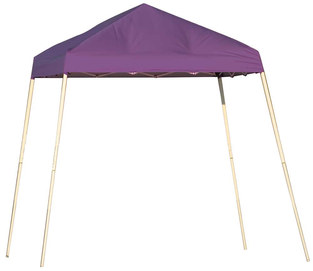 ShelterLogic Pop-Up Canopy HD - Slant Leg 8 x 8 ft. Purple