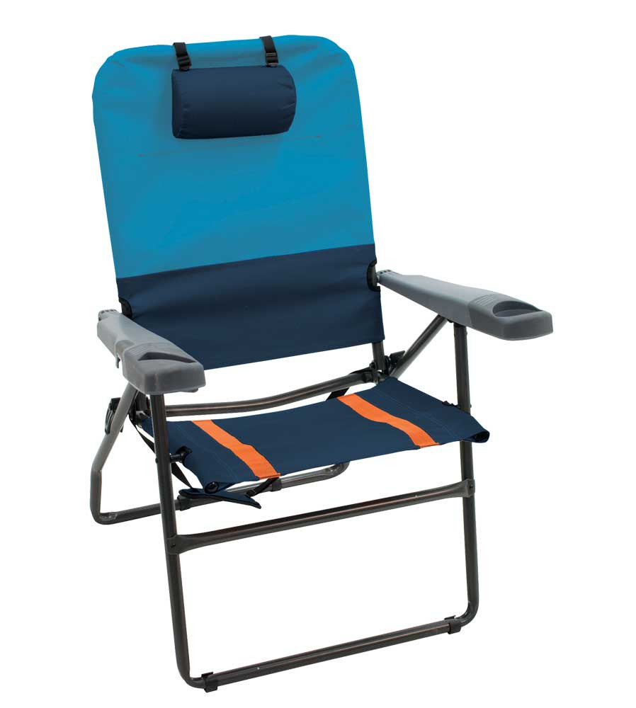 RIO Gear 4-Position Aluminum 17 in. Chair - Navy