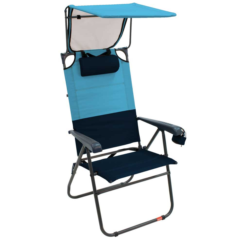 RIO Gear Hi-Boy Aluminum Canopy Chair - Blue Sky/Navy