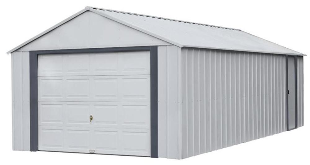 Arrow Murryhill 12 x 24 Garage, Steel Storage Building, Prefab Storage Shed/Flute Gray