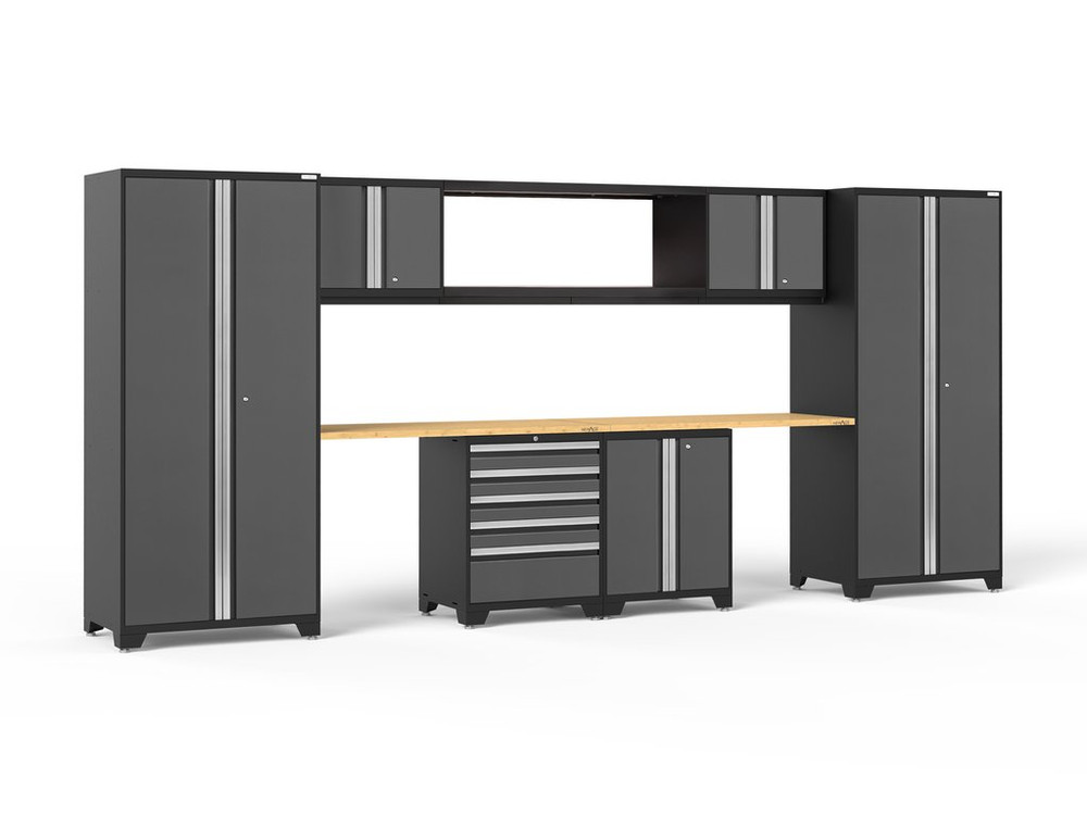 NewAge Pro 3.0 Grey 9-Piece Set w/Bamboo Worktop