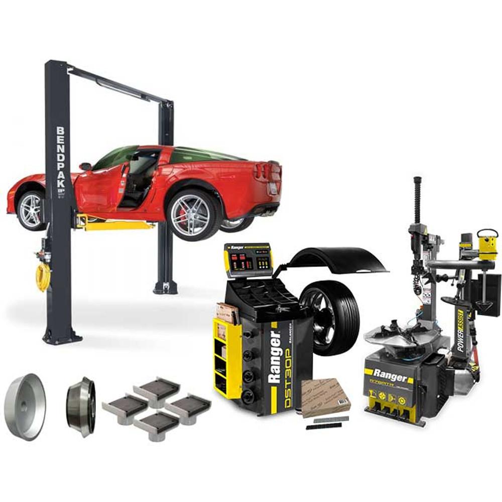 BendPak XPR-10AS + R76ATR + DST30P + APX-TS1 Tire Shop Bundle