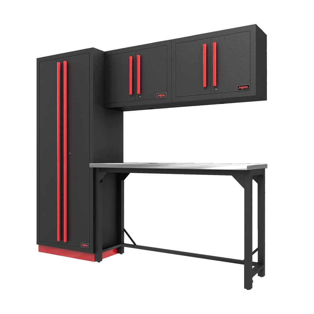Proslat Fusion PRO 5 Piece Work Bench Set - Barrett-Jackson Red