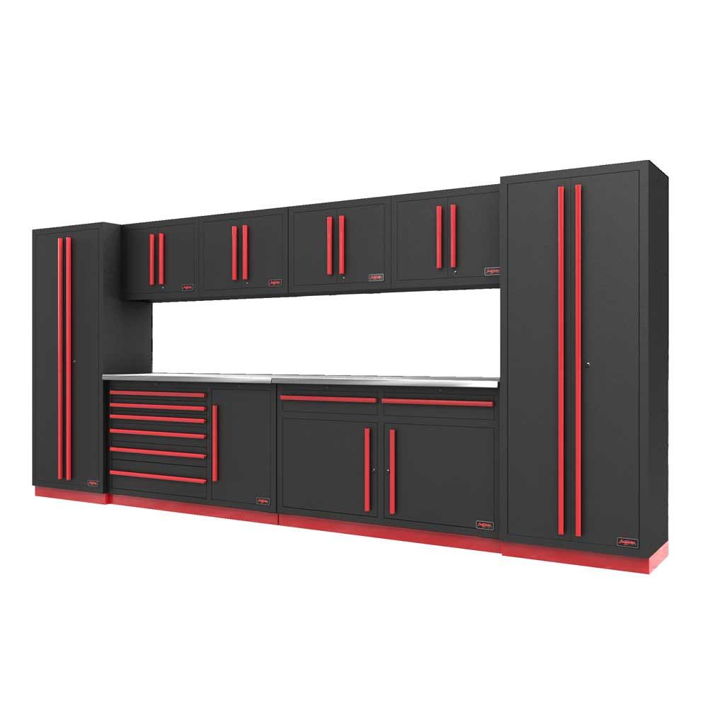 Proslat Fusion PRO 10 Piece Max Cabinet Set - Barrett-Jackson Red